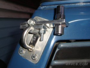 A 2-Bolt bar mount fitted to an awning tie on a VW Camper