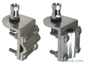 To change between horizontal or vertical mounting, just undo the bolts and rotate the grooved bit - it goes either way!