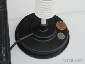 Our 5 inch AM1035 magmount with coins shown to illustrate it's size
