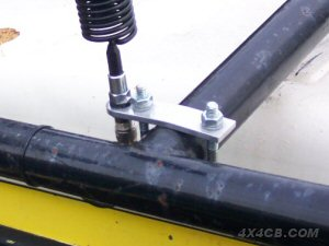 Bullbar/Rollcage mount fixed to a rollcage - fitted