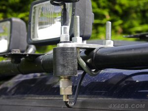 Rollcage/Bullbar mount fitted with an Artificial Ground Plane fixed to a rollcage