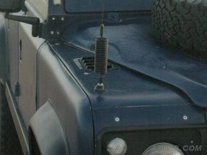 Here's a dome mount on the front wing of a Land Rover defender