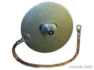 strengthening disc with earth strap which provides both strengthening and an earthing wire