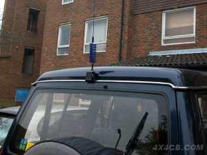 Guttermount on the back of a Mitsubishi Shogun/Pajero - to fit a guttermount here, you'll need our 2m cable extension