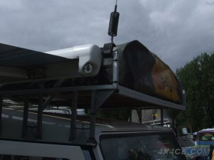 Here's a guttermount fixed onto a roofrack - we'd recommend you use one of our roofrack/bar mounts instead