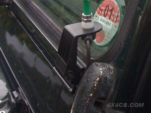 Heres a guttermount fixed to the under windscreen ledge on a series Land Rover