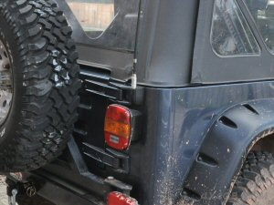 Here's a PSM-1 mount on the back of a Jeep Wrangler