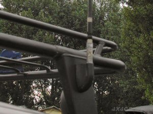 A PSM-1 mount on the upright of a roofrack