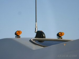 A close-up view of the PSM-1 on the day vans' roof
