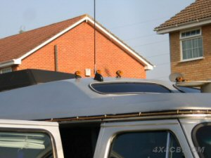 A neat install on the roof of an American day van, using our angle adaptor to get the aerial upright