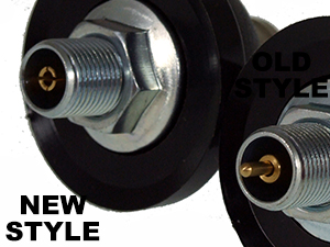 New and Old style dome mounts side by side