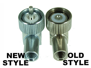New and Old style dome mount plugs side by side