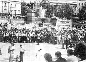Legalise AM CB Radio rally in Trafalgar Square, 1981