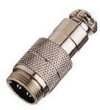 Picture of Mic Socket - Inline - 4 Pin Metal